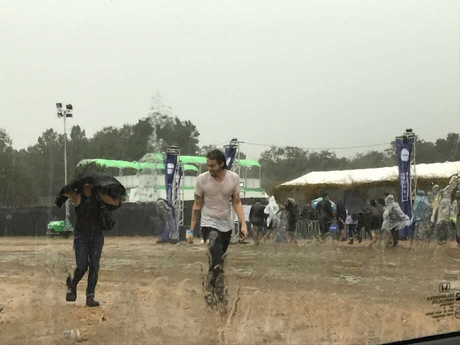 Intense weather has caused the evacuation of the Sound On Sound Fest Sunday afternoon, Nov. 6, 2016, in McDade, Texas. The area continues to be under a flood advisory until 6 p.m. Photo: By Kristen Alligood, For The Express-News