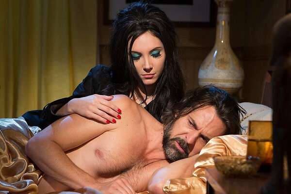 "Samantha Robinson and Jeffrey Vincent Parise star in ""The Love Witch"""