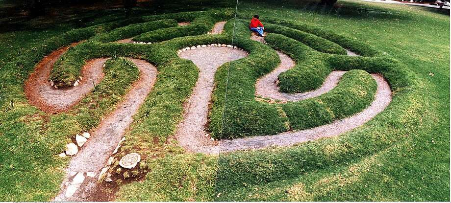 A 1992 photo shows the labyrinth in its newly created form. Photo: Alex Champion