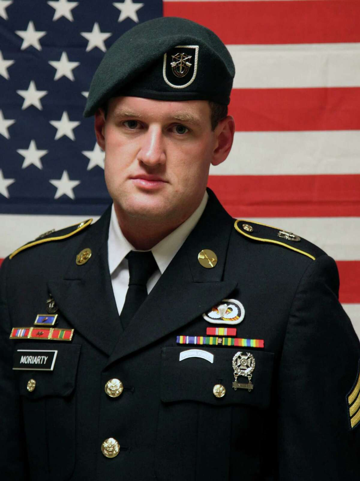 Kerrville native Staff Sgt. James F. Moriarty, seen in an undated photo provided Sunday, Nov. 6, 2016 by the Army Special Operations Command, was killed Friday in Jordan. Moriarty had been in the Army more than five years and was in his second overseas deployment, according to the Army release identifying him.