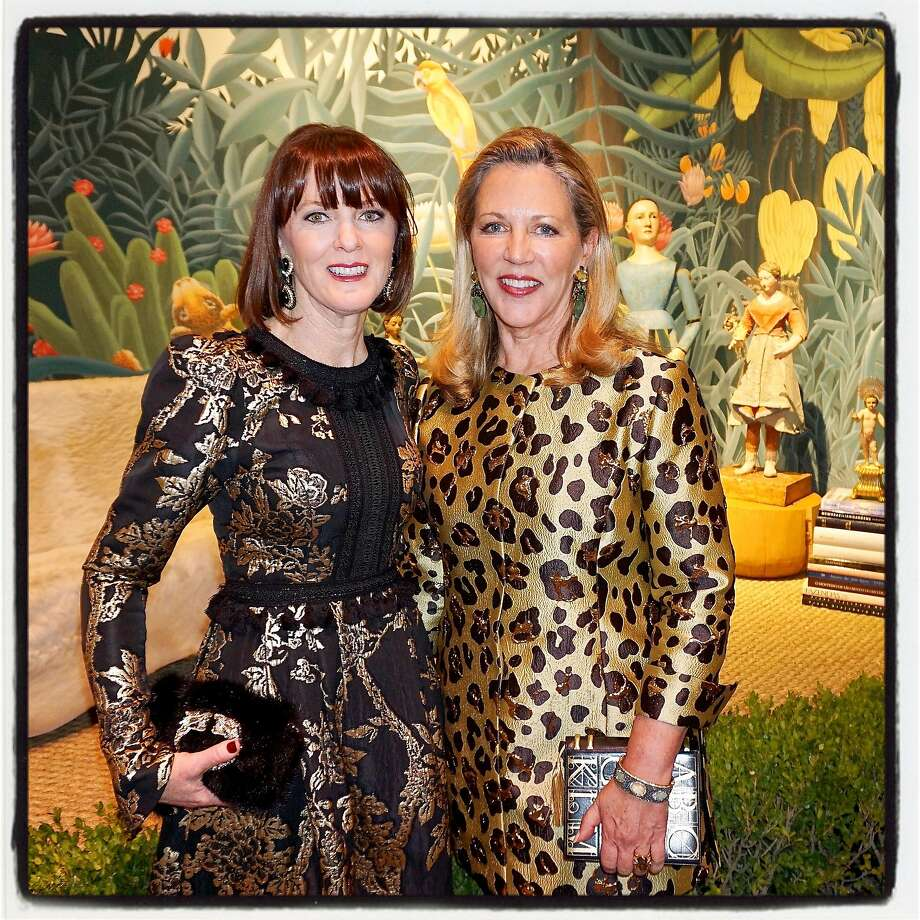 Antiques show preview gala chair Allison Speer (left) and chairwoman Suzanne Tucker at the Fort Mason Center show. Photo: Catherine Bigelow, Special To The Chronicle