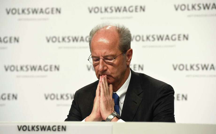 (FILES) This file photo taken on December 10, 2015 shows Hans-Dieter Poetsch, supervisory board chairman of German carmaker Volkswagen, during a press conference in Wolfsburg, central Germany.  Volkswagen AG announced on November 6, 2016 that the public prosecutor's office in Braunschweig has expanded the investigation procedure for market manipulation against two company members. / AFP PHOTO / TOBIAS SCHWARZTOBIAS SCHWARZ/AFP/Getty Images ORG XMIT: 4913 Photo: TOBIAS SCHWARZ / AFP or licensors