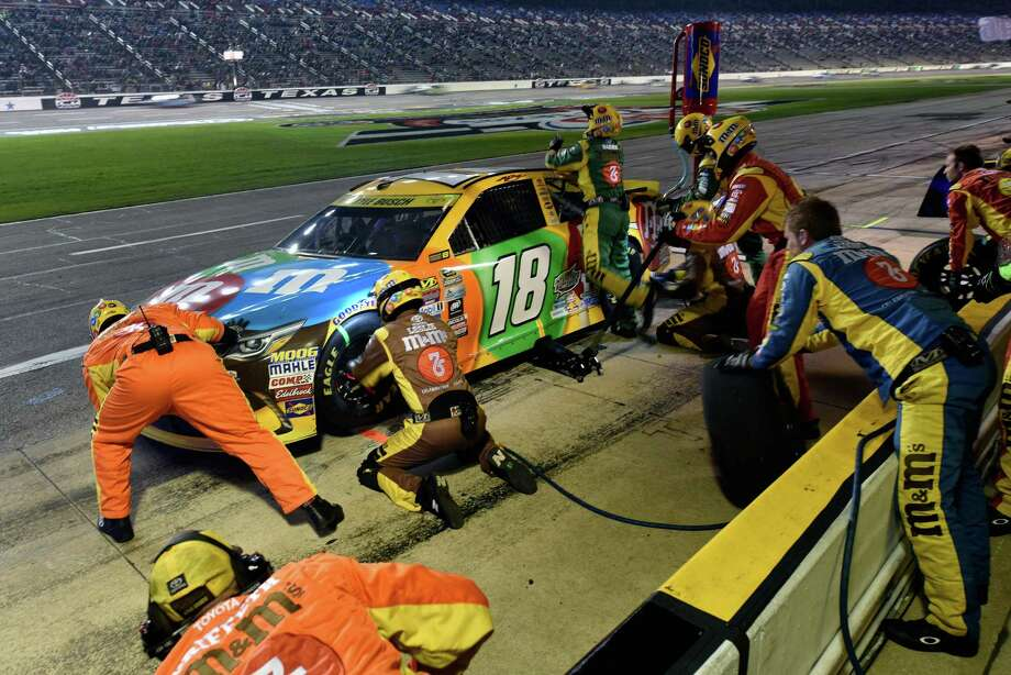FORT WORTH, TX - NOVEMBER 06:  Kyle Busch, driver of the #18 M&M's Toyota, pits during the NASCAR Sprint Cup Series AAA Texas 500 at Texas Motor Speedway on November 6, 2016 in Fort Worth, Texas.  (Photo by Jared C. Tilton/Getty Images) Photo: Jared C. Tilton, Stringer / 2016 Getty Images