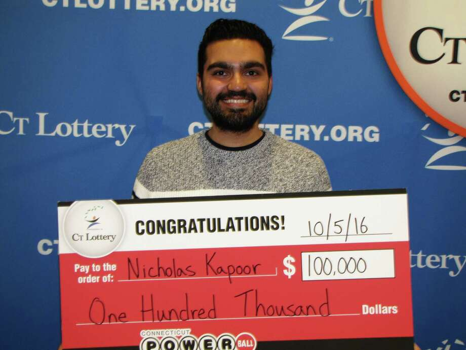 Nicholas Kapoor of Monroe won $100,000 playing Powerball Photo: Contributed Photo /