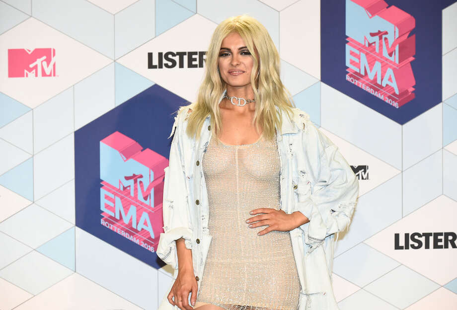 US singer and host of the 2016 MTV Europe Music Awards (EMA) Bebe Rexha poses at the MTV Europe Music Awards (EMA) on November 6, 2016 at the Ahoy Rotterdam in Rotterdam. Photo: JOHN THYS/AFP/Getty Images