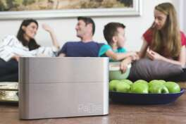 Pause is a box that blocks cell and wifi signals to help create more quality family time.