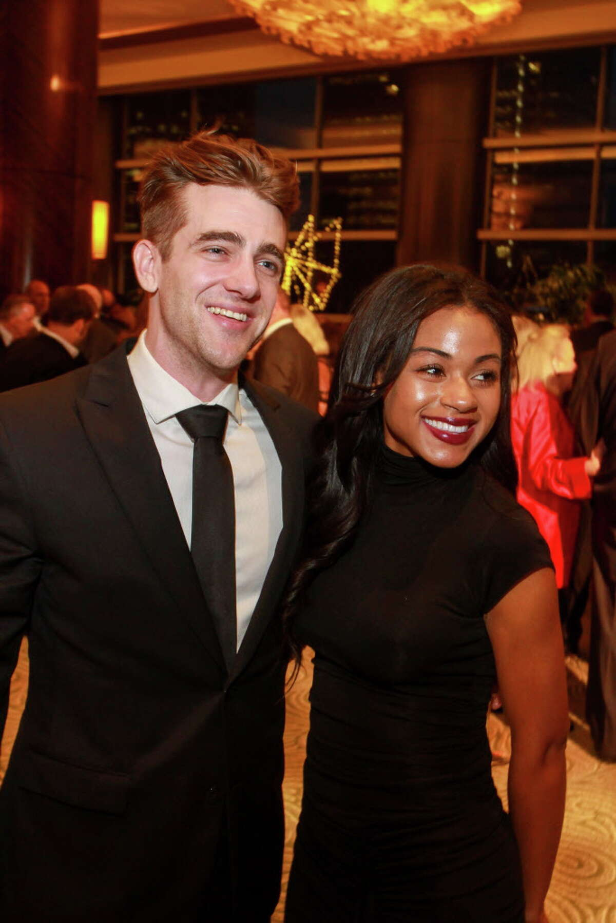 Jared Jinkerson and Aneisha Hughes at the Constellation gala. (For the Chronicle/Gary Fountain, November 4, 2016)