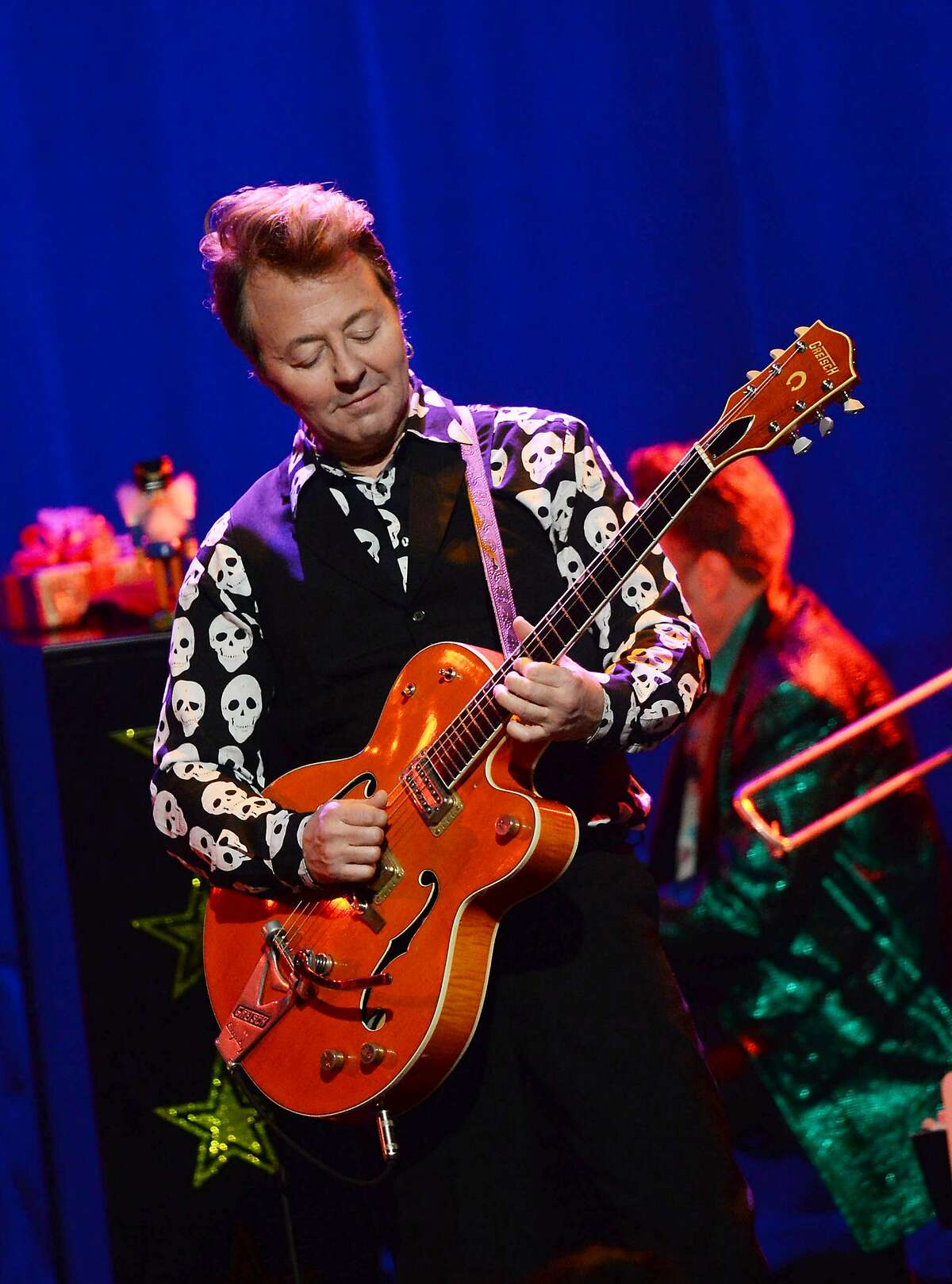 NEW YORK, NY - DECEMBER 01: Musician Brian Setzer performs a Private