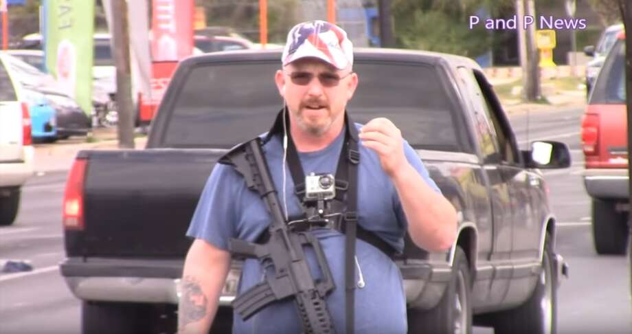 Jack Miller, seen here, walked around the West Side of San Antonio Nov. 2, 2016 with a rifle strapped to his chest prompting a campus lockdown at Our Lady of the Lake University. Photo: Courtesy/YouTube