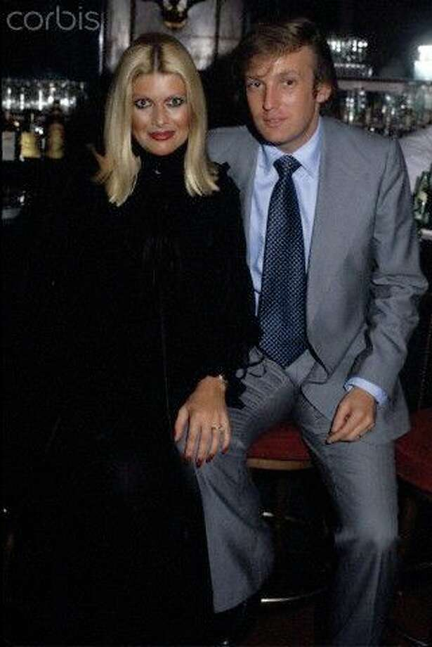 This drama starred Ryan Phillipe, Salma Hayek and Mike Meyers, and told the tale of the infamous 1970's NYC nightclub, Studio 54. We couldn't find a still image of The Donald from it, so here's a real picture of him and Ivana from the actual swinging hotspot.