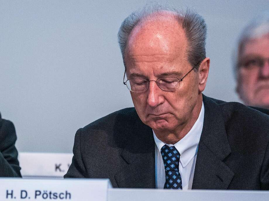 Volkswagen Chairman Hans Dieter Poetsch has been named a suspect by German pro se cutors looking  in to allega tions of market mani pulation related to the emissions- cheating. Photo: ODD ANDERSEN, AFP/Getty Images