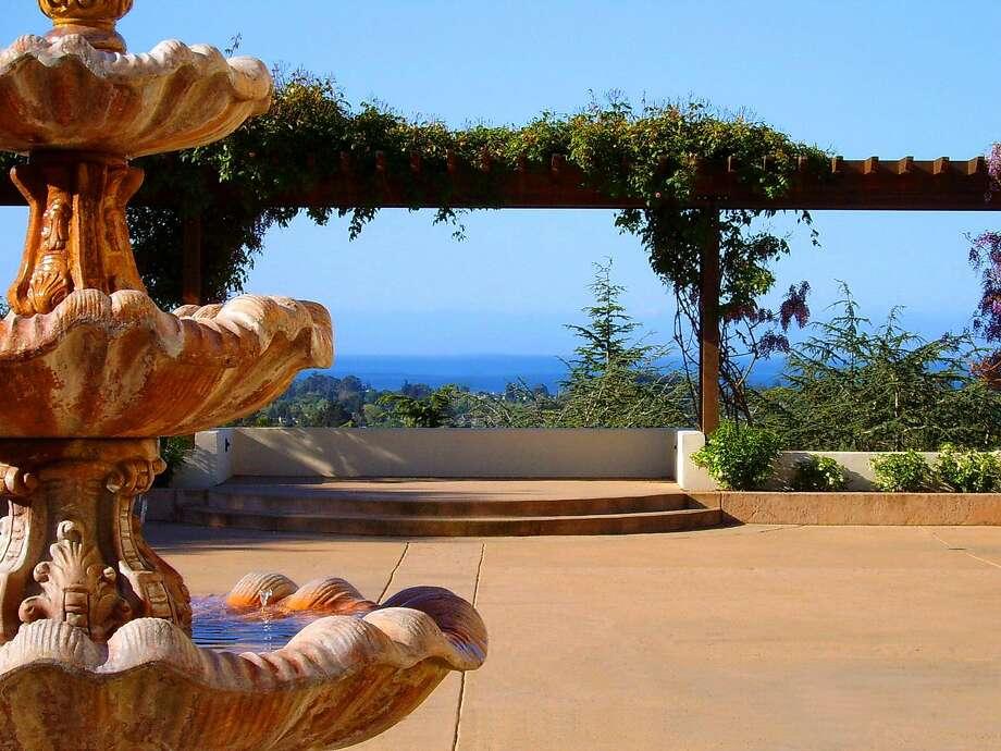 The view from the patio at Chaminade Resort & Spa in Santa Cruz. Photo: Chaminade Resort And Spa In Santa Cruz.