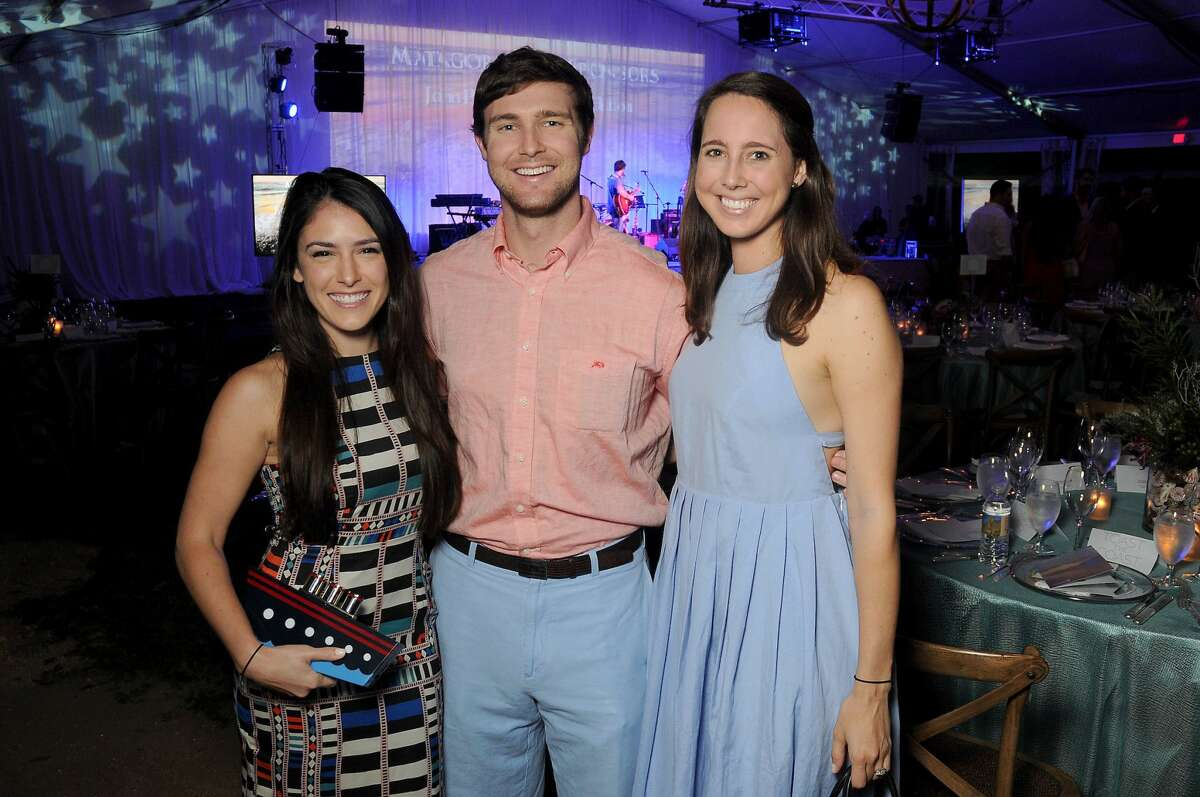 From left: Auna Denson, Bryan Flick and Allison Bland at The Nature Conservancy's Toast the Coast event at the Houston Polo Club Thursday Nov. 03,2016.(Dave Rossman photo)