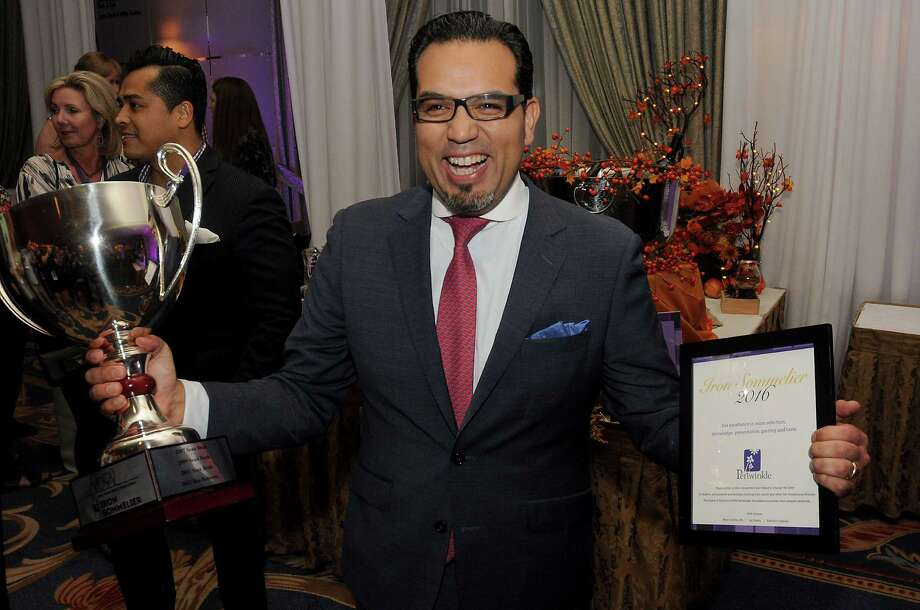Christian Varas, wine director forHouston'sRiver Oaks Country Club, won 2016's Iron Sommelier contest. Photo: Dave Rossman