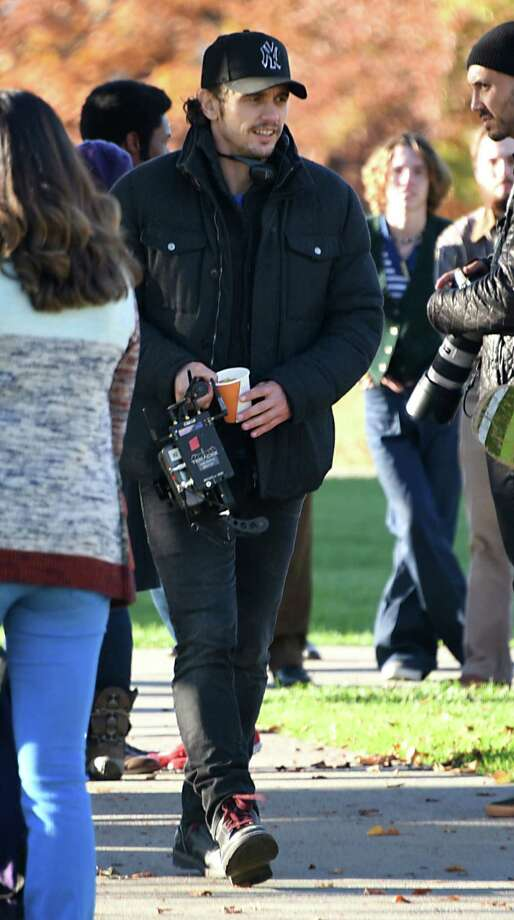 "Actor and filmmaker James Franco is seen directing his movie, ""The Pretenders,"" on the campus of Union College on Monday, Nov. 7, 2016 in Schenectady, N.Y. (Lori Van Buren / Times Union) Photo: Lori Van Buren / 20038726A"