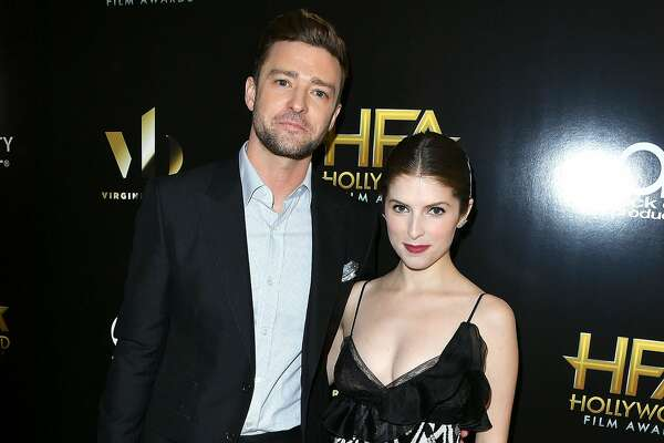 BEVERLY HILLS, CA - NOVEMBER 06:  Justin Timberlake;Anna Kendrick poses at the 20th Annual Hollywood Film Awards at The Beverly Hilton Hotel on November 6, 2016 in Beverly Hills, California.  (Photo by Steve Granitz/WireImage)
