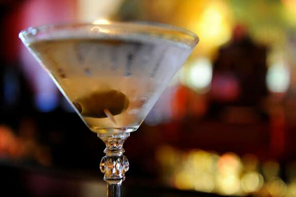 A classic martini is ready to be served at Aub Zam Zam's bar, located at 1633 Haight Street on June 13, 2012, in San Francisco, Calif.