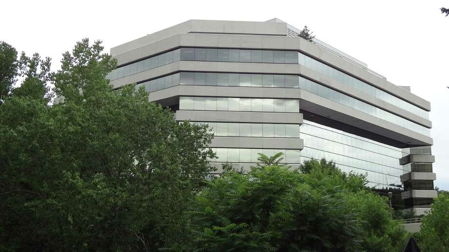 The headquarters building of Frontier Communications at 401 Merritt 7 in Norwalk, Conn., in August 2016. Frontier doubled in size in April 2016 after its acquisition of Verizon Communications territories in Florida, Texas and California. Photo: Alexander Soule / Hearst Connecticut Media / Stamford Advocate