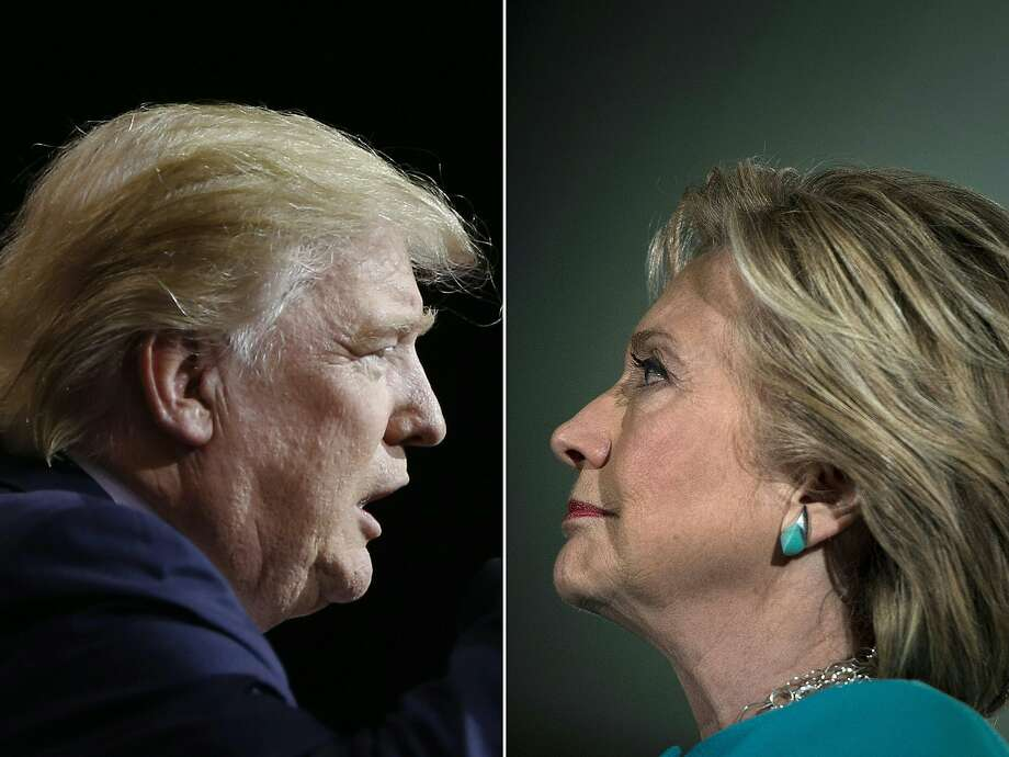 Clinton and Trump launched into the frenzied final day of their historic fight for the White House. Photo: JAY LAPRETE, AFP/Getty Images