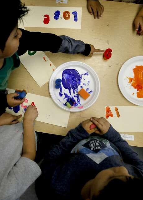 First grade students participate in an art project at Glen Park Elementary School in San Francisco, California, on Thursday November 3, 2016 Photo: Michael Macor, The Chronicle