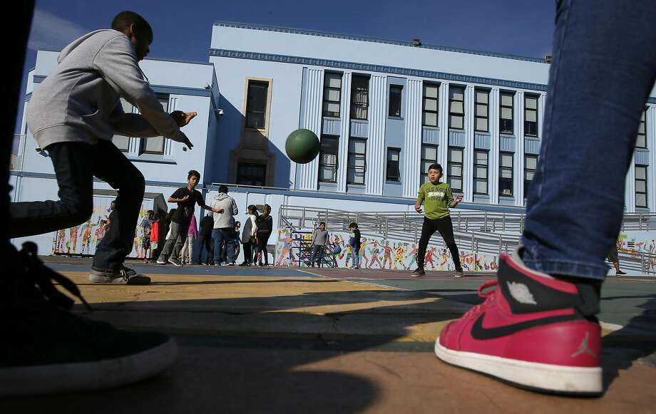 Students enjoy recess time outside at Glen Park Elementary School in San Francisco, California, on Thursday November 3, 2016 Photo: Michael Macor, The Chronicle