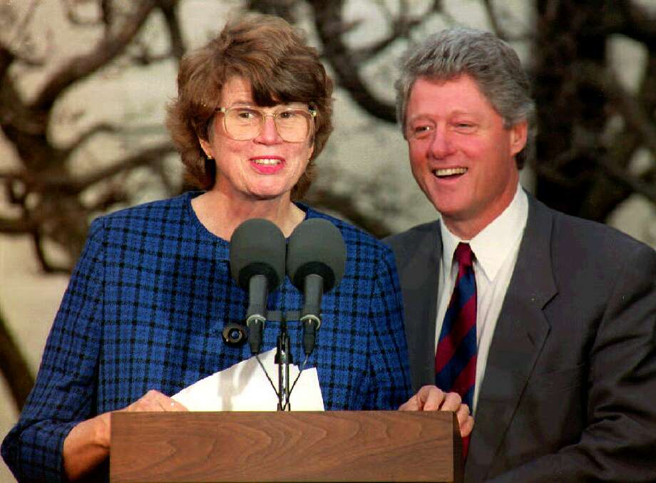 President Bill Clinton nominates Janet Reno attorney general in 1993. Reno was never part of Clinton's inner circle because she sought independence. Photo: STR, Stringer / AFP or licensors
