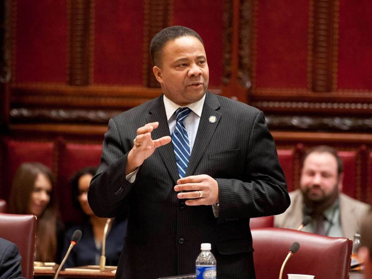State Sen. Jesse Hamilton, D-Brooklyn, joined the Independent Democratic Conference in November 2016.