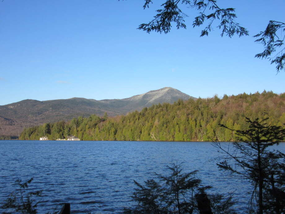 View from the building lot sold last week along Lake Placid. (Photo: Select Sotheby's International Realty)