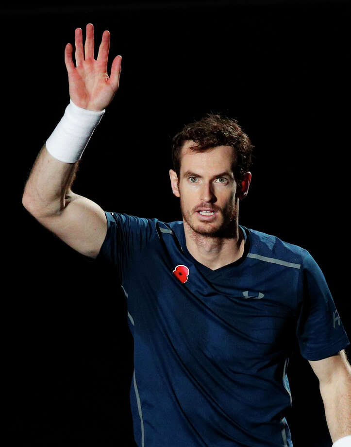 Britain's Andy Murray celebrates after defeating John Isner of the United States during the final match of the Paris Masters tennis tournament at the Bercy Arena, in Paris, Sunday, Nov. 6, 2016. (AP Photo/Christophe Ena) ORG XMIT: ENA114 Photo: Christophe Ena / Copyright 2016 The Associated Press. All rights reserved.
