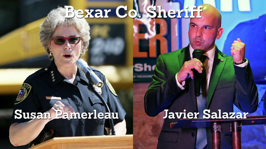 3. Incumbent Susan Pamerleau has secured a slight lead for Bexar County Sheriff against challenger Javier Salazar.