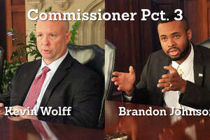 5. Incumbent Bexar County Commissioner Kevin Wolff, District 3, is facing off against Brandon J. Johnson, a 19-year-old UTSA student.