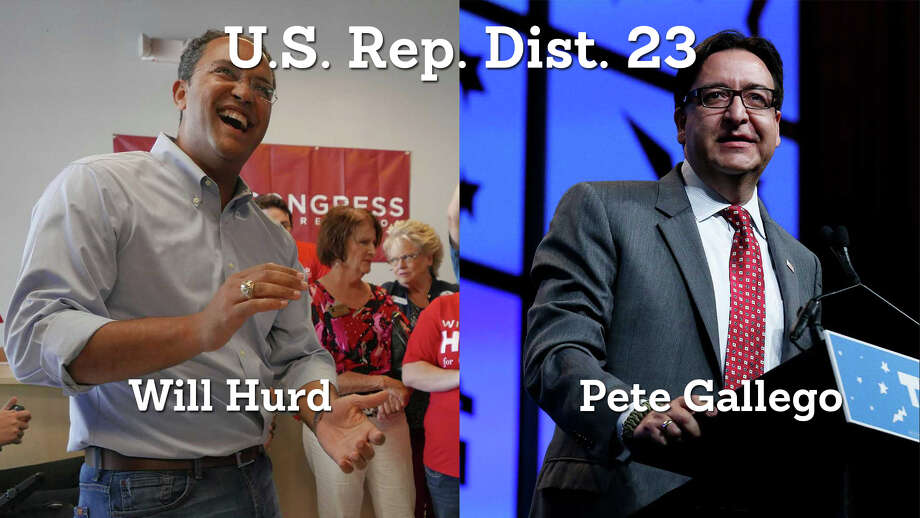 1. Republican incumbent Will Hurd is leading the race for Congressional District 23 against Pete Gallego in Bexar County after early voting results were released. Photo: San Antonio Express-News