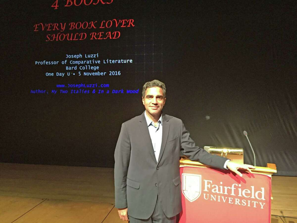 Professor of Comparative Literature at Bard College Joseph Luzzi. Luzzi shared the four books every lover of literature should read with a crowd of almost 500 attendees at an event co-hosted by One Day University and Hearst Connecticut Media Saturday, Nov. 5, at Fairfield University.
