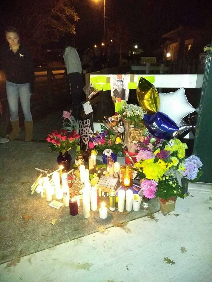 Friends of Kirk Kimberly, the slain Cotati teen, set up a memorial for him on Cypress Avenue in Cotati. Photo: Submitted By Kimberly Schnetz / Kimberly Schnetz