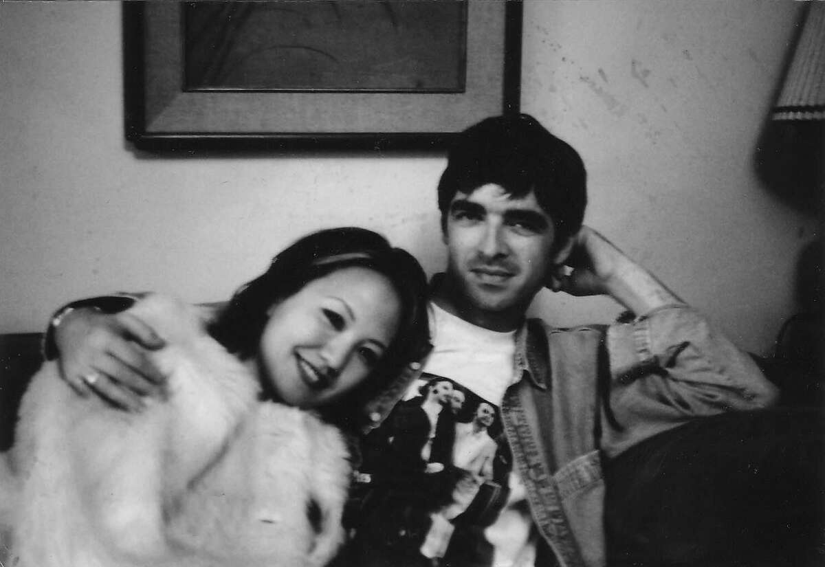 Melissa Lim with Oasis singer Noel Gallagher during his time in San Francisco.