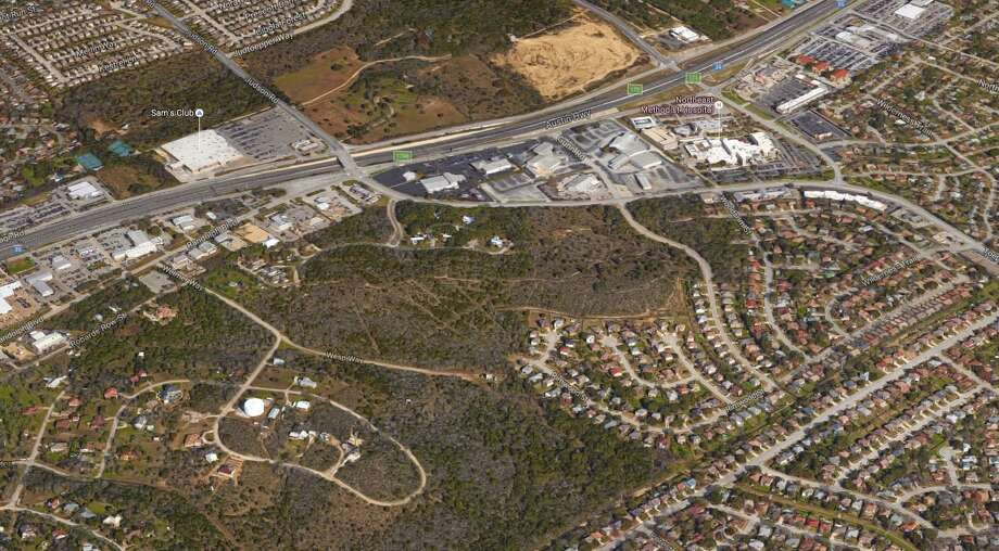 San Antonio developer Tony Eugenio plans to build a roughly 190-home single-family community just off Interstate 35. Photo: Google Maps