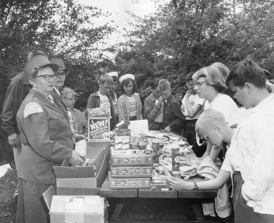 Safety patrol field day. 1955 Photo: Daily News File Photo