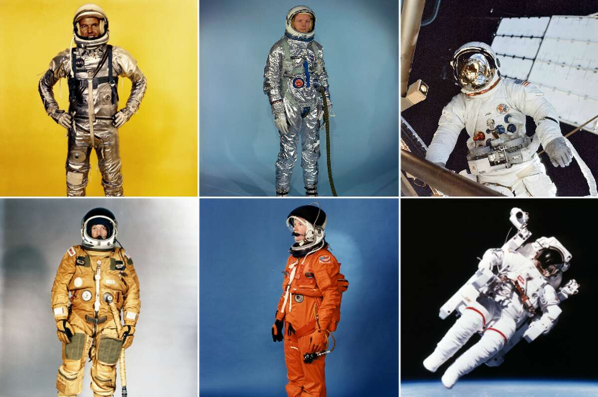 Click through to see how NASA's space suits have changed through the years.