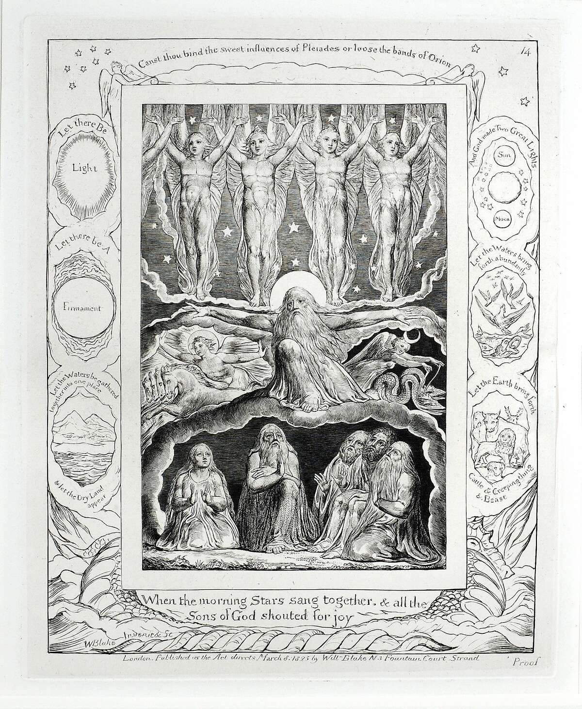 William Blake, an engraving from��Illustrations of the Book of Job��(1825)
