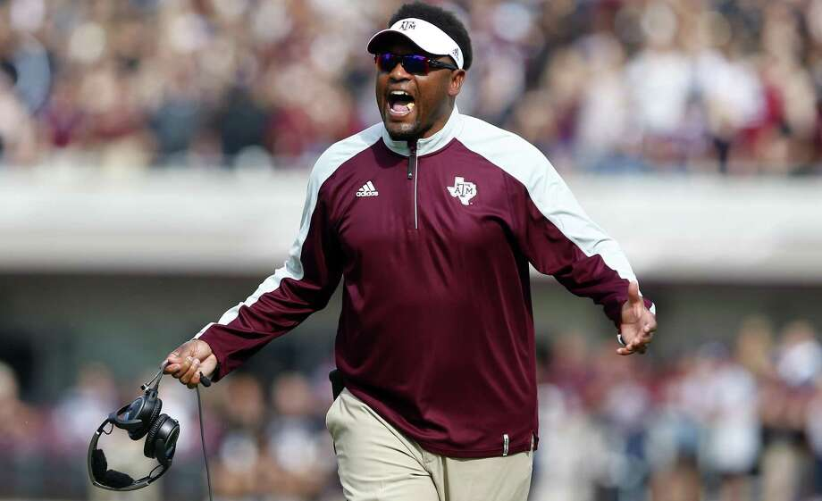 Coach Kevin Sumlin of the Texas A&M Aggies reacts to a call during the first half against the Mississippi State Bulldogs at Davis Wade Stadium on Nov. 5, 2016 in Starkville. Photo: Butch Dill /Getty Images / 2016 Getty Images