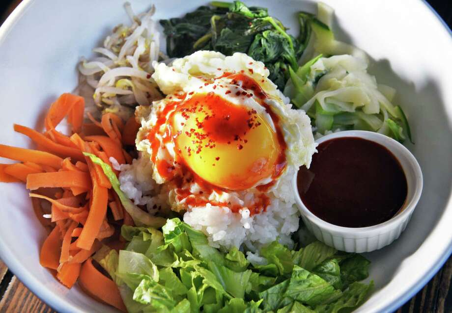 Bibimbap at Kraverie on Beekman Street Friday Nov.4, 2016 in Saratoga Springs, NY.  (John Carl D'Annibale / Times Union) Photo: John Carl D'Annibale / 20038688A