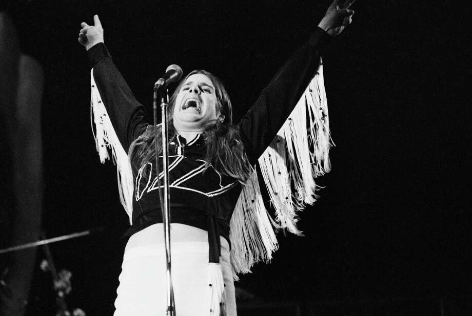 """Aug. 22, 1975, Municipal Auditorium: Black Sabbath was listed as a """"pop group"""" in the newspaper's entertainment listings. Photo: Michael Putland, Getty Images / This content is subject to copyright."""