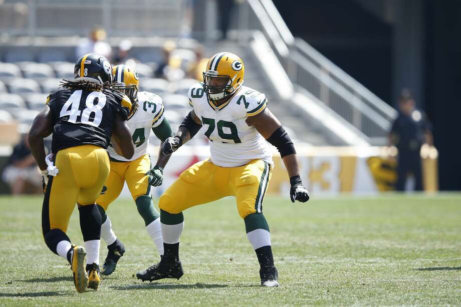 Josh Walker (79) spent time on the Green Bay Packers practice squad. Photo: Joe Robbins/Getty Images