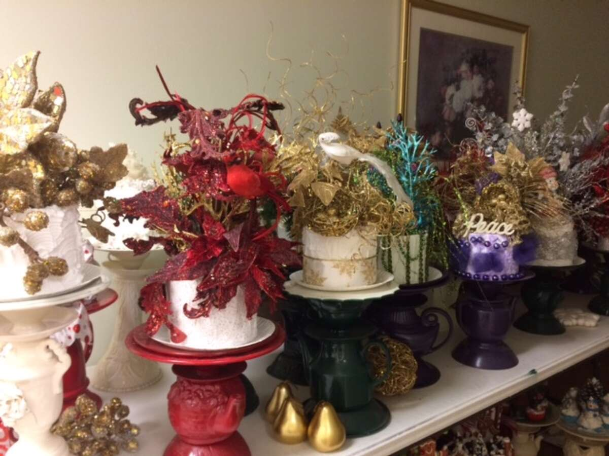 Volunteers at the Faith Mission and Help Center of Washington County made DIY cake stands for their annual fundraiser.