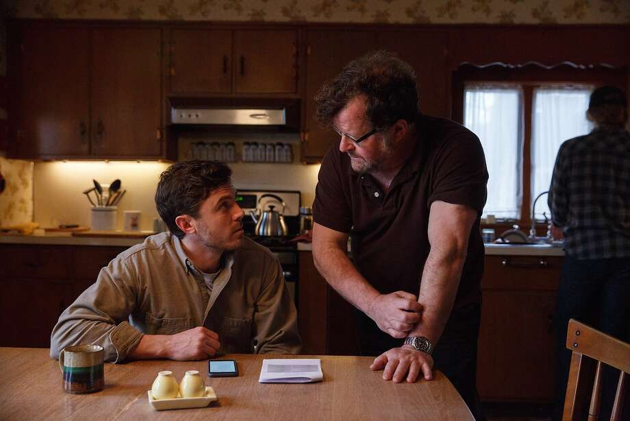 Director Kenneth Lonergan (right) on the set with Casey Affleck. Photo: Amazon Studios / Roadside Attractions