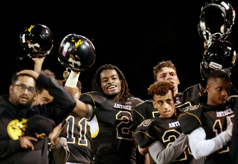 Antioch running back Najee Harris (2) lived up to the expectations placed on him while completing one of the most remarkable high school football careers in Bay Area history. Photo: Michael Macor, The Chronicle