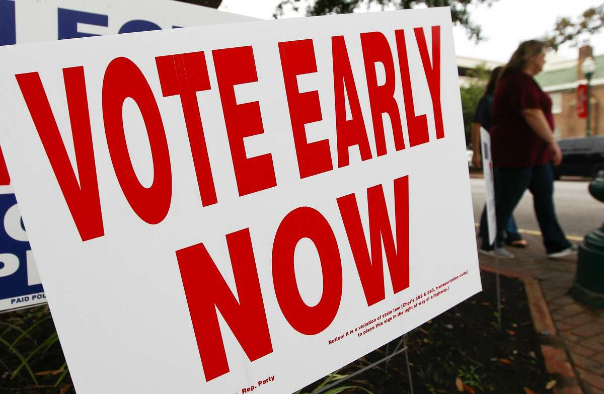 Early voting turnout reached record numbers at polling locations across Montgomery County.