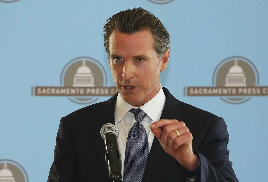 Lt. Gov. Gavin Newsom at the Sacramento Press Club on Oct. 19, 2016. Photo: Rich Pedroncelli, Associated Press