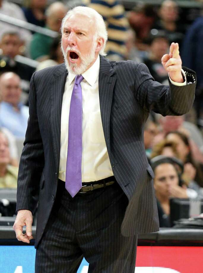 Gregg Popovich responds to reporter after he was asked a Donald Trump question while his team was in Mexico this week. Photo: Edward A. Ornelas /San Antonio Express-News / © 2016 San Antonio Express-News
