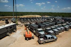 The Abraxas Petroleum Corporation frac spread in Atascosa County Texas on August 23, 2016. San Antonio-based Abraxas Petroleum Corp. lost $4.1 million during the fourth quarter of 2017, but earned $16 million for the year, according to financial results it reported after the market closed Tuesday.